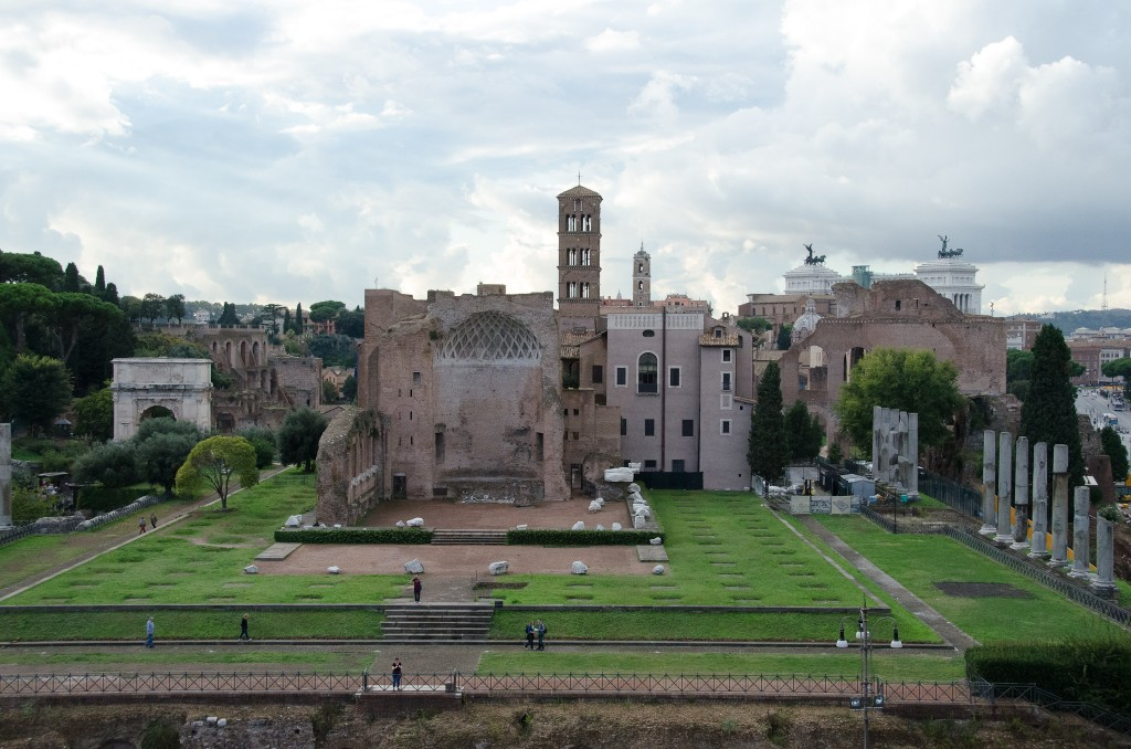 The site of the ancient statue of Nero, from which the Colossus got its name