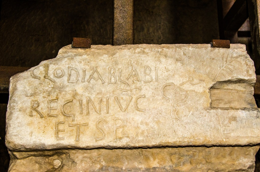 Ancient graffiti showing where Roman senators would sit
